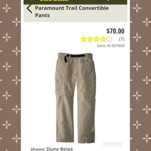 Mens North Face Convertible Pants Shorts L